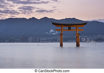 Itsukushima Shrine famous place at Miyajima. Hiroshima....