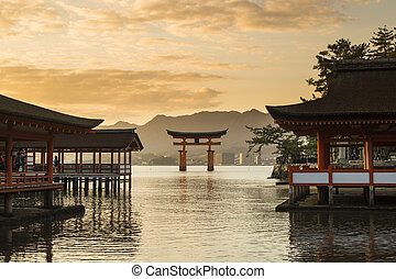 Itsukushima Shrine famous place at Miyajima Hiroshima Japan...