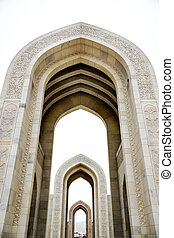 Archway Grand Sultan Qaboos Mosque - Archway of Grand Sultan...