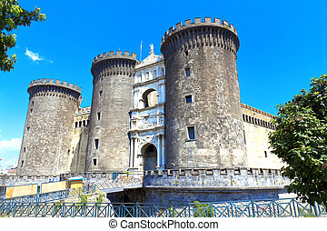 Naples, Maschio Angioino - The medieval castle of Maschio...