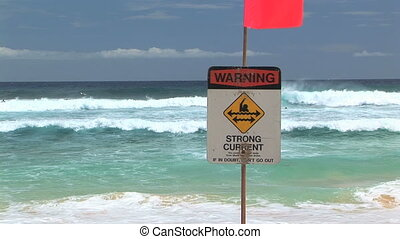 Warning Strong Current
