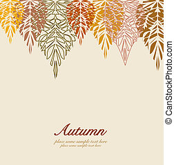 Autumn vector leaves background - Autumn colorful vector...