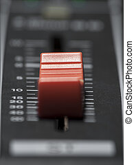 Mixing desk fader - Mixing deskfader closeup, for music and...