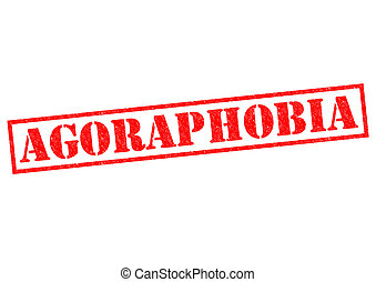 AGORAPHOBIA red Rubber Stamp over a white background.
