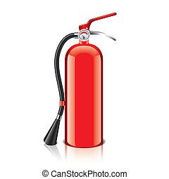 Fire extinguisher vector illustration - Fire extinguisher...