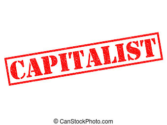 CAPITALIST red Rubber Stamp over a white background.