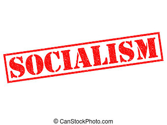 SOCIALISM red Rubber Stamp over a white background