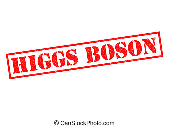 HIGGS BOSON red Rubber Stamp over a white background
