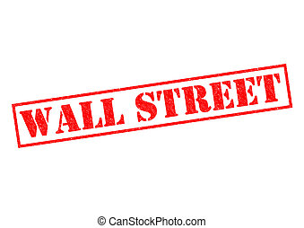 WALL STREET red Rubber Stamp over a white background.