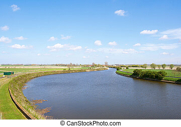 view of the landscape of the river yzer
