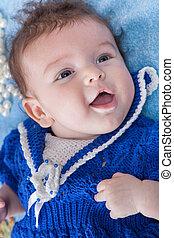 Happy baby blue eyes