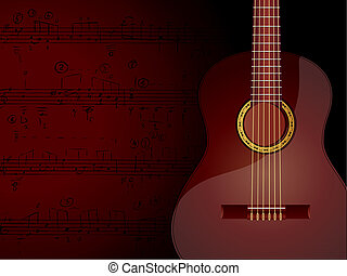 Music Background - The image of background with acoustic...