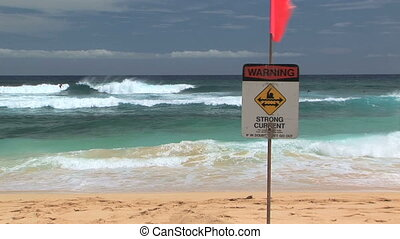 Warning Strong Current - Warning strong current sign in...