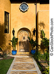 Front Door - The front door of a large Spanish Colonial...