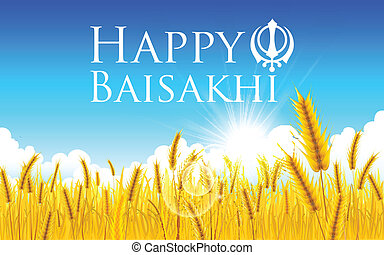 Happy Baisakhi - illustration of Happy Baisakhi background...