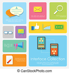 Flat Interface Design Collection