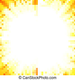 Shiny sun with lots of beams, natural summer vector...