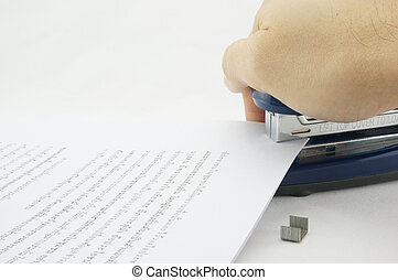 Big Stapler paper - Stapler allows paper documents are...