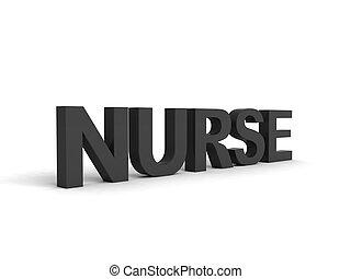 Glose, farve, Sort, Sygeplejerske,  Side, Udsigter