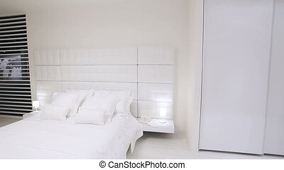 home with white bedroom