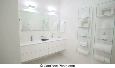 home with white bathroom