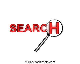 search text with magnifier