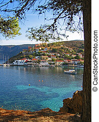 Assos Kefallonia, Greece 2 - Assos bay at Kefallonia,...