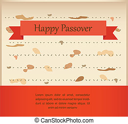 passover invitation on matzoh background vector illustration...