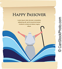 passover invitation on acient card let my people go