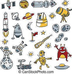 Space Images - A collection of cartoon space images