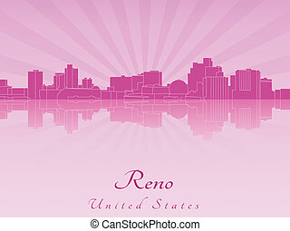 Reno skyline in purple radiant orchid in editable vector...