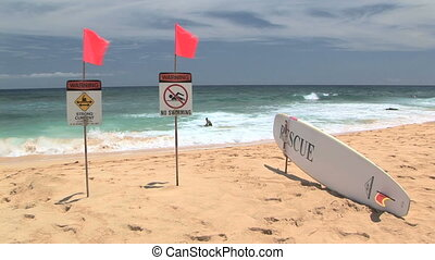 Warning Strong Current, No Swimming - Rescue, warning strong...