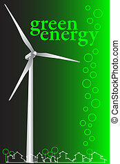 Green Energy - Brochure cover or Business card - Wind power...