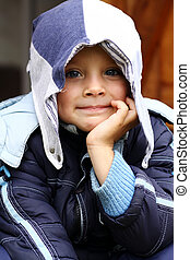 Portrait of beautiful little boy - Boy Child Portrait...