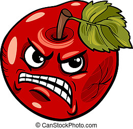 bad apple saying cartoon illustration - Cartoon Humor...