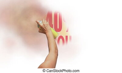 40 Percent Discount Spray Painting - Sign for a 40 percent...