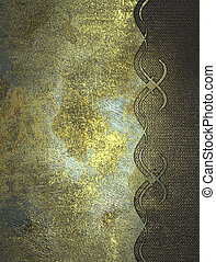 Shabby old gold background with a pattern. Design template....
