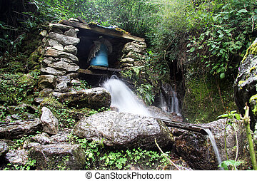 WAter mill - Water mill in the forest in Nepal