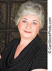 Elderly Italian woman - Beatiful older caucasian woman in...