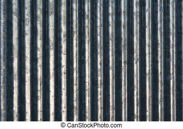 The vertical curve of zinc as background - The vertical...