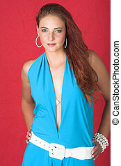 Female fashion model - Young female adult fashion model with...