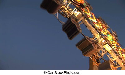 Amusement park ride, Clark county fair, Washington