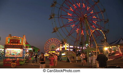Carnival, time lapse - Clark county fair, Washington, time...