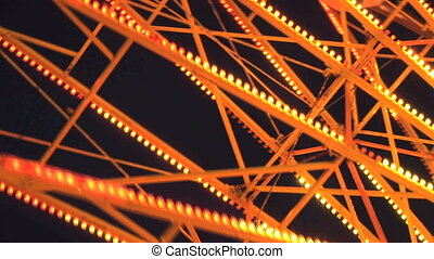 Ferris Wheel - Spinning Ferris Wheel, Clark county fair,...