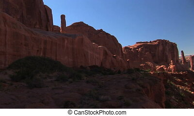 Park Avenue Rock Formation - Park Avenue in Arches National...