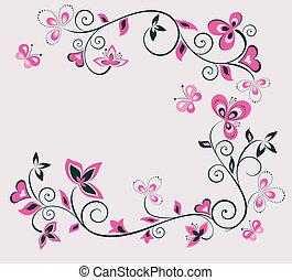 Retro floral design