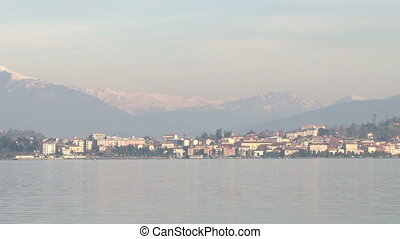 Small town on Lake Maggiore - View of small town on Lake...