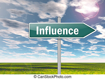 Signpost Influence - Signpost with Influence wording