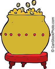 cartoon pot of gold