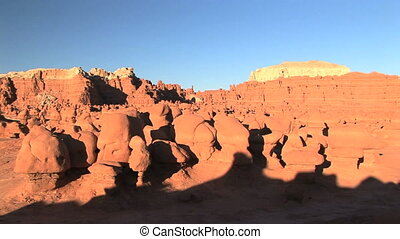 Goblin Valley, time lapse - Unique eroded rock formation in...